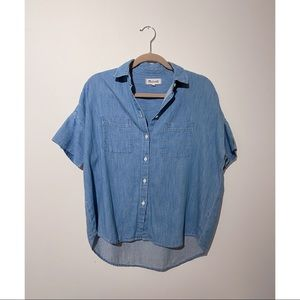 Madewell denim chambray button up top shirt blouse